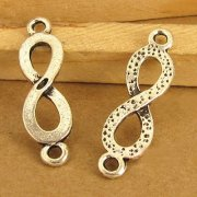 Charms 10 st - Infinity Symbol 22mm