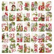 Simple Stories Die cuts - Simple Vintage Christmas - Number Tags