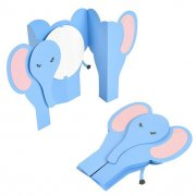 Sizzix Thinlits Dies Fold-A-Long Card - Elephant