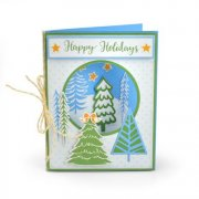 Sizzix Framelits Dies With Stamps - Winter Trees