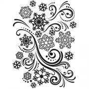 Embossing Folder - Snowflake Swirl