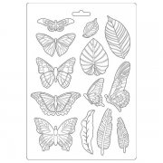 Soft Mould A4 Stamperia - Amazonia - Leaves & Butterflies