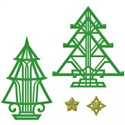 Spellbinders Shapeabilities Dies - Art Deco Trees