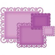 Spellbinder Nestabilities Dies - Decorative Elements Rectangles - 4 dies