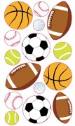 Stickers Sticko - Metallic Popular Sports Balls - 15 delar