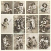 Vintage Bilder Pion Design - Flower Girls