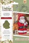 Stamp & Die set Crafter´s Companion - Vintage Christmas - St.Nicholas