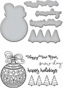 Stamp & Dies set Spellbinders - Happy Holiday Ornaments