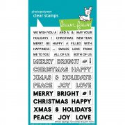 Stämpelset Lawn Fawn - Offset Sayings Christmas - 4x6 Tum