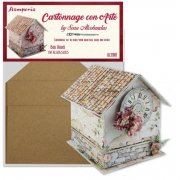 DIY Chipboard Hus - Stamperia - Box House - H: 18,5 cm