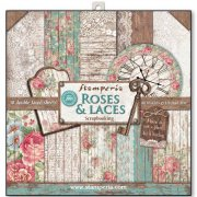"Paper Pad 12""x12"" - Stampedia - Roses and Laces"