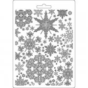 Stamperia Texture Impression Mould A5 - Snowflakes