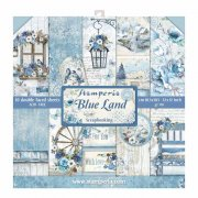 Stamperia Paper pad 12x12 - Blue Land
