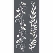 Stamperia Stencil 12x25cm - Flowers & Leaves