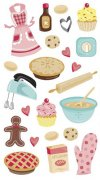 Stickers Sticko - Baking with Glitter - 23 delar