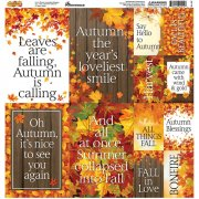 Stickers 12x12 Reminisce - Autumn Splendor
