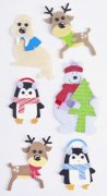 3D-Stickers Mix - Christmas Animals - Heyda