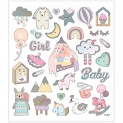 Stickers - Baby Girl - 15x16,5 cm - 30 st