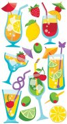 Epoxy Stickers Sticko - Mixed Drinks - 13 delar