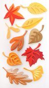 3D Stickers Mix - Autumn Leaves - Heyda