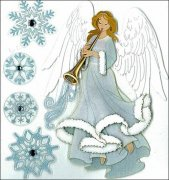 3D Glitter Stickers Jolee's - Winter Angel - 5 delar