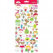 Stickers 6x12 Doodlebug - Christmas Town icons