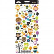 Stickers 6x12 Doodlebug - Pumpkin Party Icons