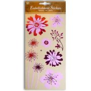 Stickers - Glorious Flowers With Emboss