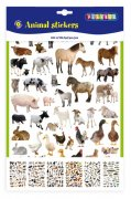 Stickers block - Animals - 6 ark - 30 x 22 cm