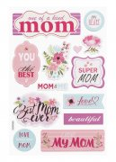 Stickers Chipboard -  Mamma - 20,5x14cm