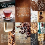 Stickers 12x12 - Reminisce - Coffee & Tea