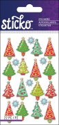 Epoxy Mini Stickers Sticko - Christmas Trees - 22 delar