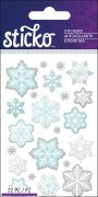 Epoxy Mini Stickers Sticko - Snowflakes - 22 delar