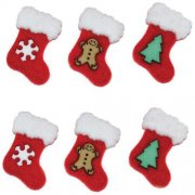 Knappar Figurer - Stockings 6 st