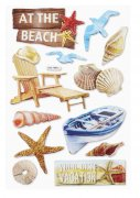 3D Stickers - Beach I