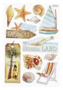 3D Stickers - Beach II