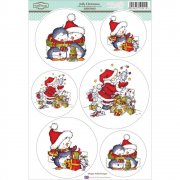 Sugar Nellie Topper Sheet A4 - Jolly Christmas