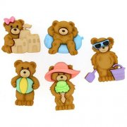 Knappar Figurer - Summer Bears