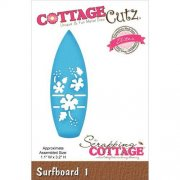 "CottageCutz Elites Die - Surfboard #1, 1.1""X3.2"""
