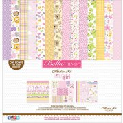 Paper Kit 12x12 Bella Blvd - Sweet Baby Girl - inkl. Stickers