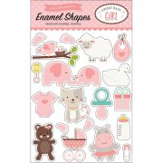 Sweet Baby Girl - Stickers Enamel Shapes - Echo Park
