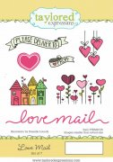 Cling Rubber Stamp Taylored Expressions - Love Mail