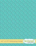 Embossing Folder - Taylored Expressions - Quatrefoil