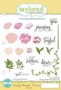 Cling Rubber Stamp - Taylored Expressions - Peonies
