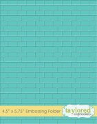 Embossing Folder - Taylored Expressions - Subway Tiles