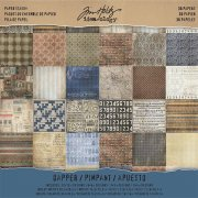 "Paper Stash Idea-Ology 12""x12"" Tim Holtz - Dapper 36 ark"