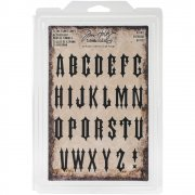 Idea-Ology Cling Foam Stamps - Gothic Uppercase - Tim Holtz