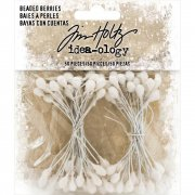 Tim Holtz Beaded Berrys 4 mm - Pistiller Glitter - 50 st