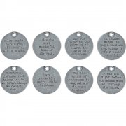Tim Holtz Charms Quote tokens - Christmas - 8 st