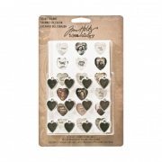 Tim Holtz Idea-ologi Heart Charms - 12 st